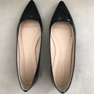 Jcrew patent pointy toed flats